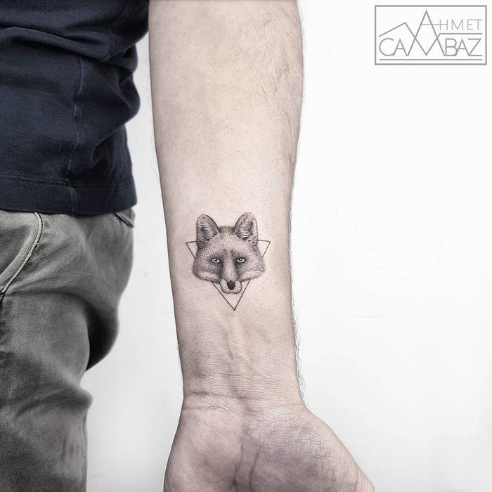 Dotwork Fox Head by ahmet cambaz