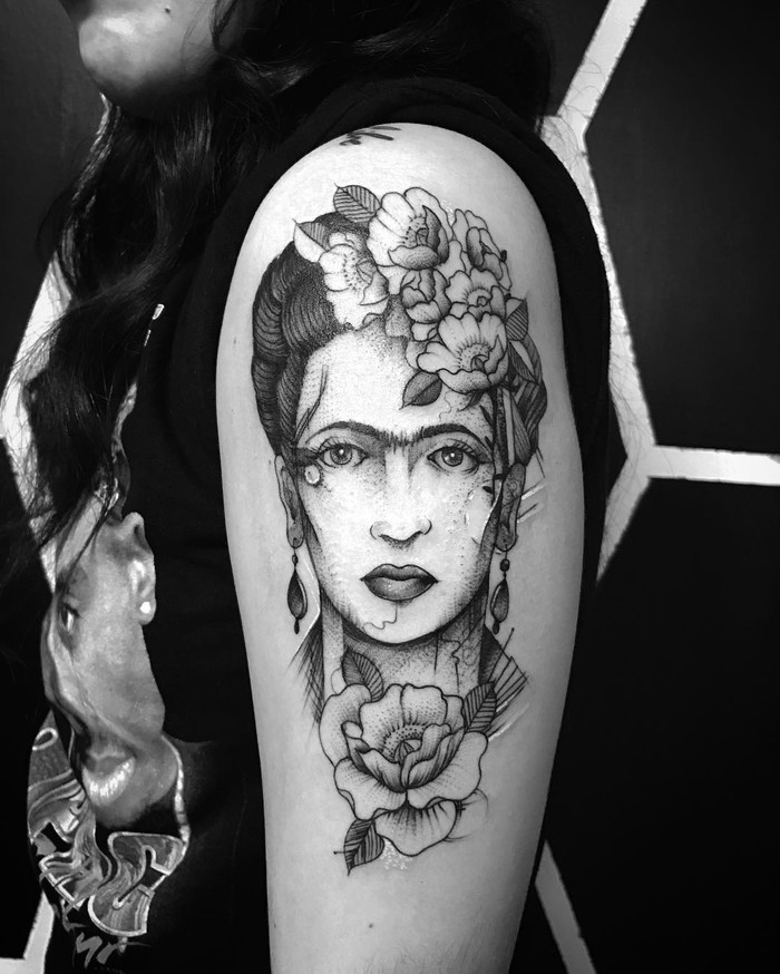 Frida Kahlo Tattoo by victorvegastattoo