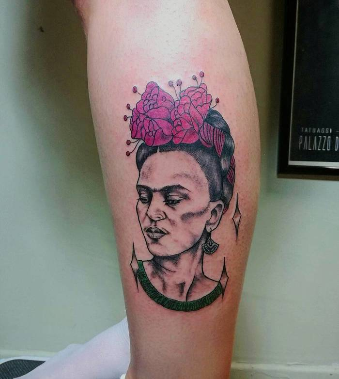 Frida Kahlo Tattoo by menio_tattoo