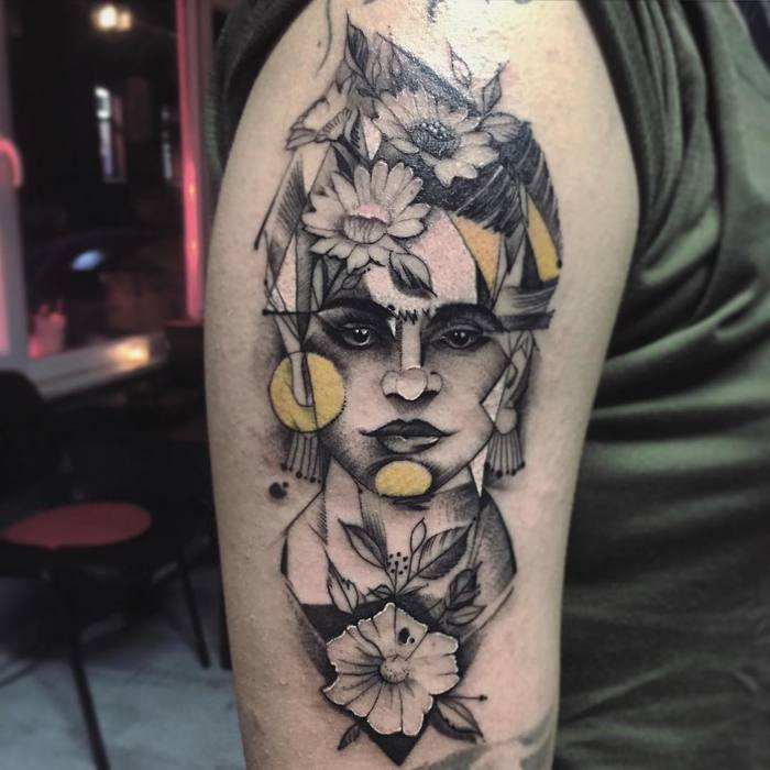 Frida Kahlo Tattoo by alicakartattoostation