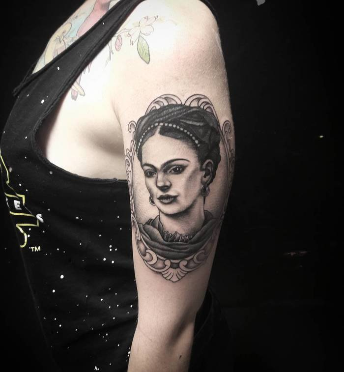 Frida Kahlo Tattoo by williamgalimberti