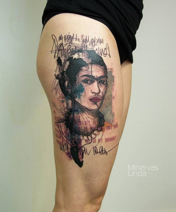 Frida Kahlo Tattoo by minervaslinda