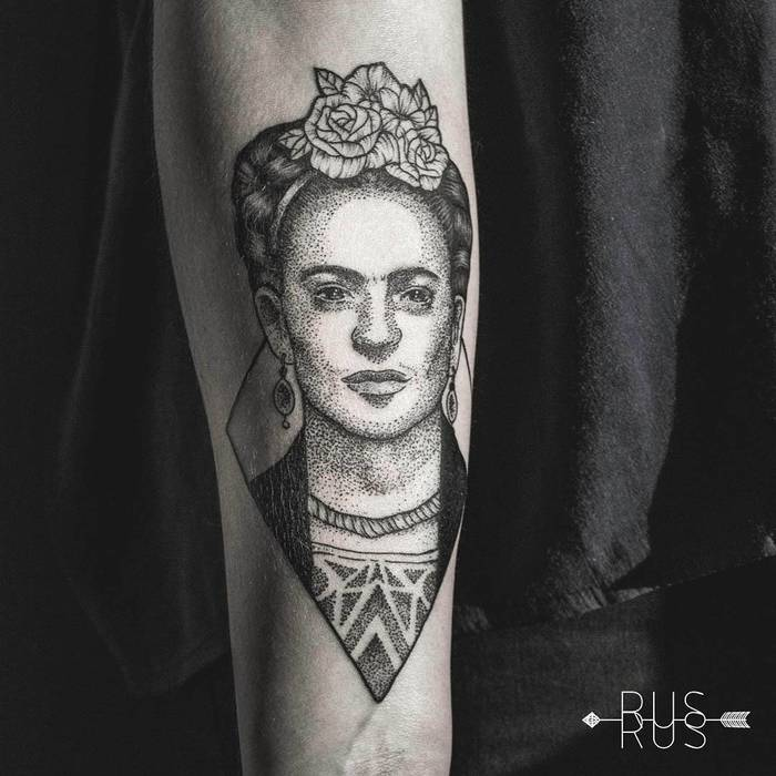 Frida Kahlo Tattoo by ps.rus