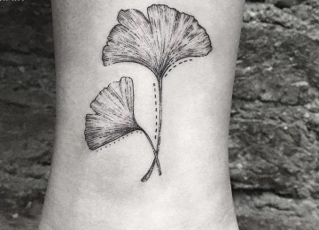 24 Gorgeous Ginkgo Leaf Tattoo Designs