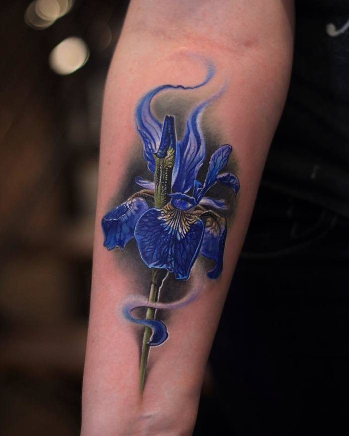Blue Iris Tattoo by joseecd