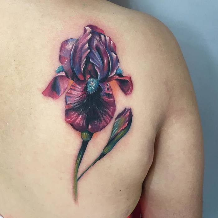 Multicolored Iris Tattoo by micaelagcoortes