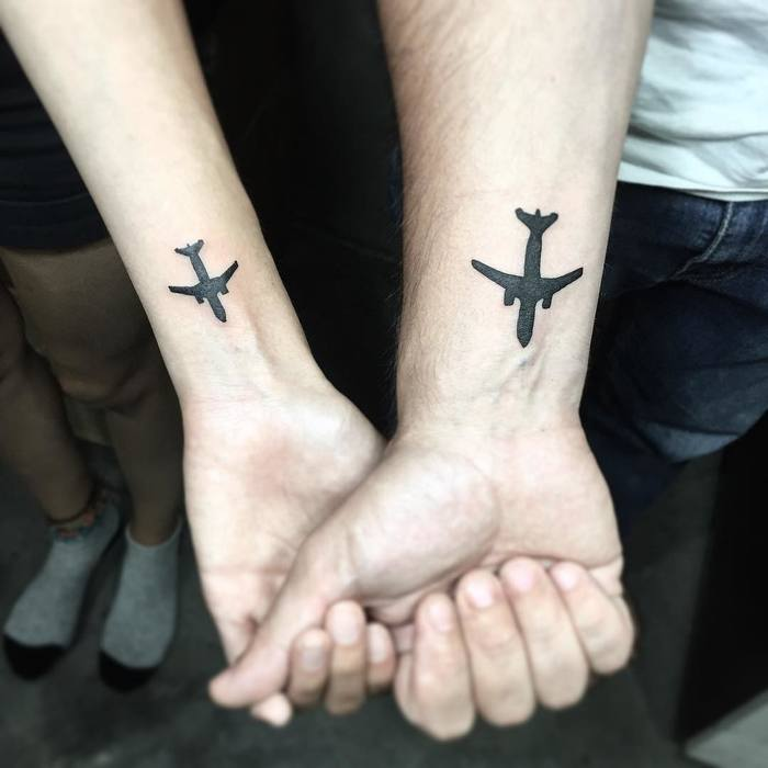 Matching Black Ink Airplanes by lonewolf_studio