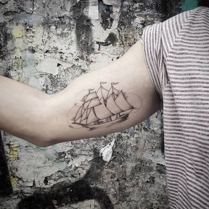 Ship Tattoo by rommy_s