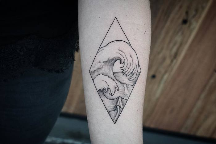 Wave Tattoo by johnbtattoos
