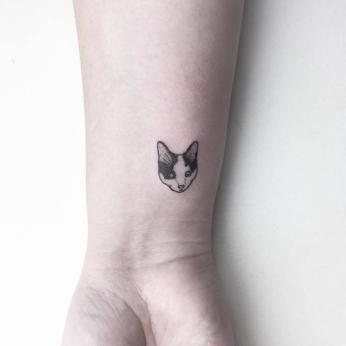 Lovely Cat Tattoo by Cagri Durmaz
