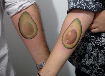 27 Splendid Avocado Tattoo Designs and Ideas