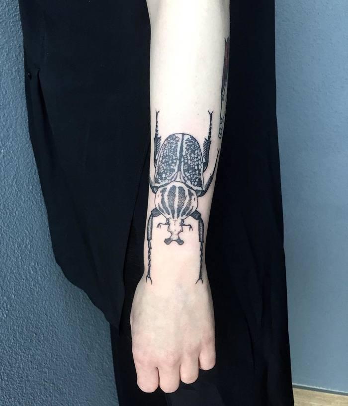 Goliath Beetle Tattoo by aleksander_lew_tattoo
