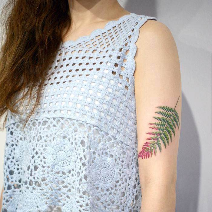 Fern Tattoo by tattooist_doy