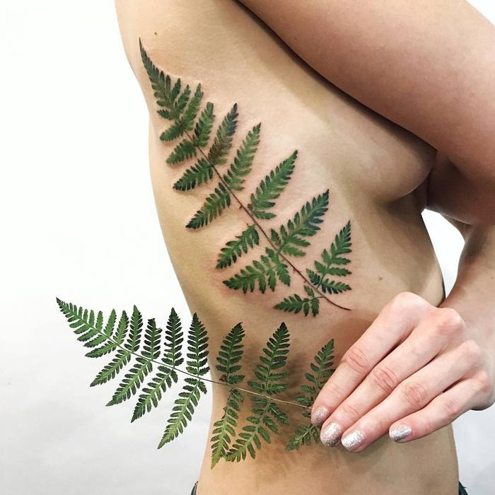 Fern Tattoo by rit.kit.tattoo