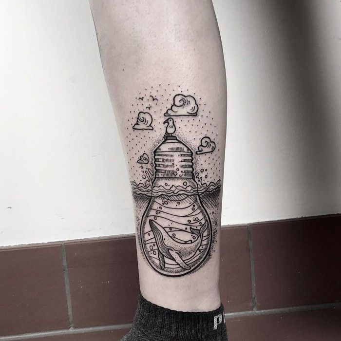 Light Bulb Tattoo by lordenstein_art