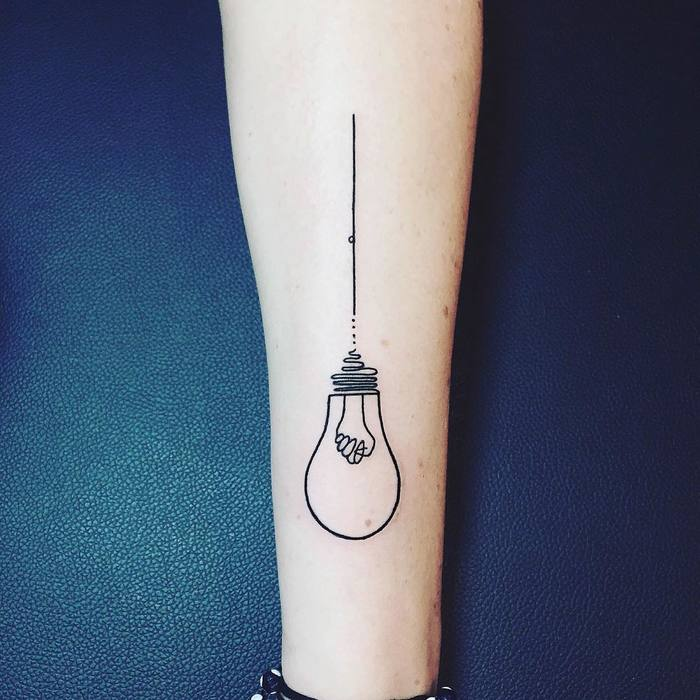 Light Bulb Tattoo by nothingwildtattoo