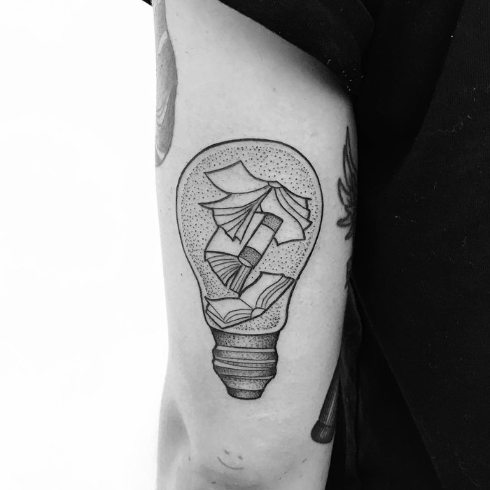 Dotwork Bulb Tattoo by masciadelgrande