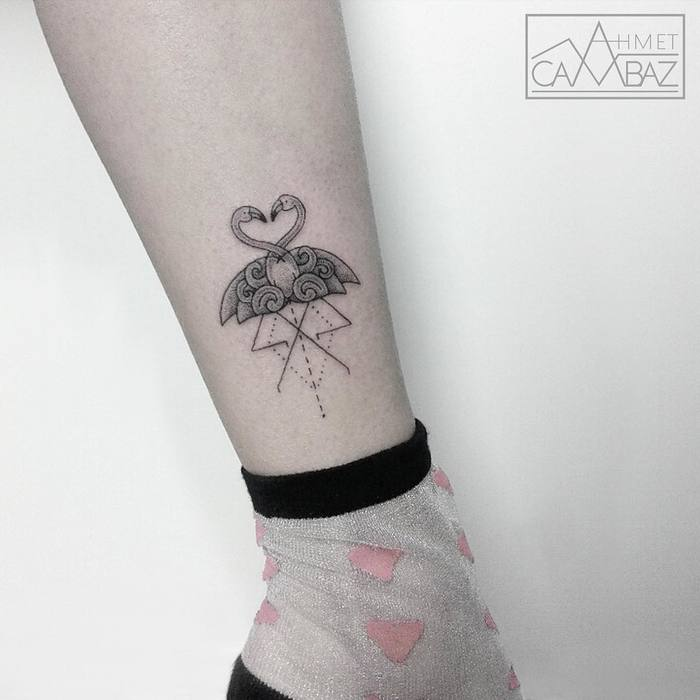 Flamingo Tattoo by ahmet_cambaz