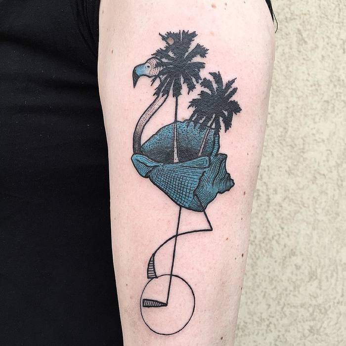 Flamingo Tattoo by bombayfoor