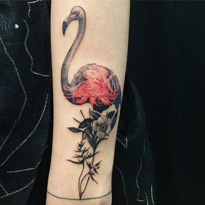 Flamingo Tattoo by pezzeep