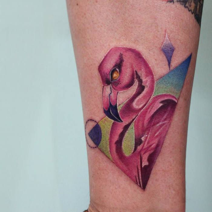 Flamingo Tattoo by bryan.gee