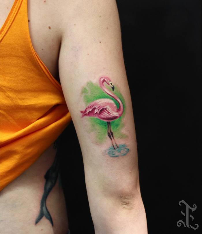 Flamingo Tattoo by tattnroll