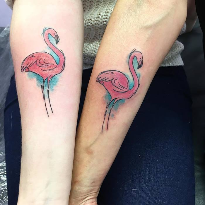Flamingo Tattoo by rachelritchietattoos