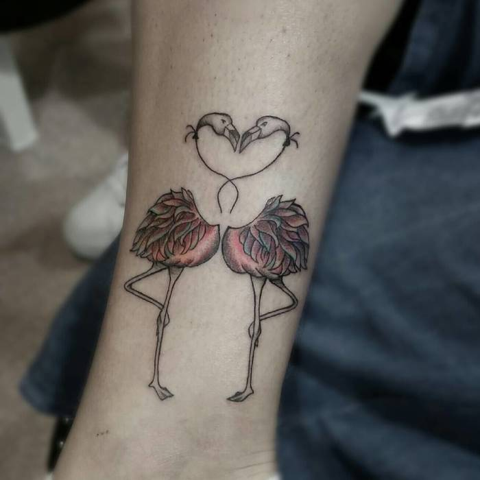 Flamingo Tattoo by marianna.forte