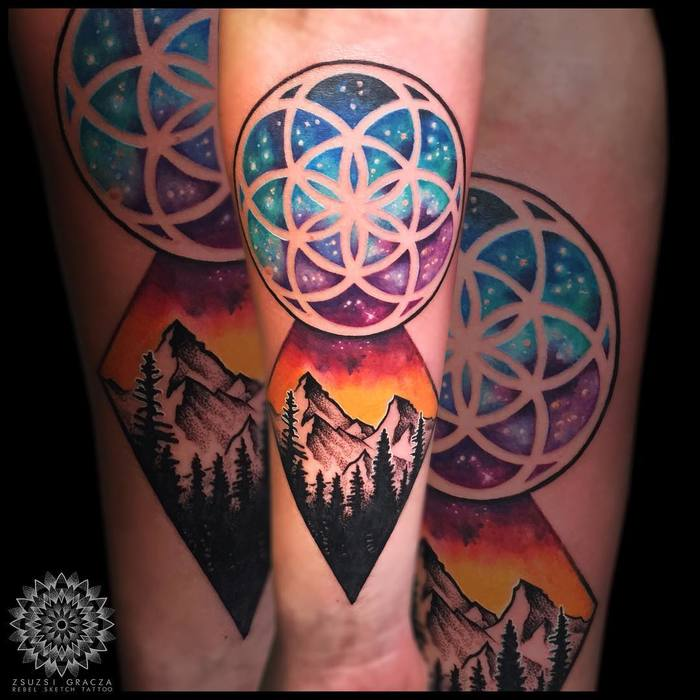 Flower of Life Tattoo by rebelsketchtattoo