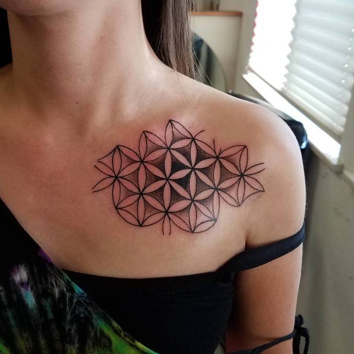 Flower of Life Tattoo by mikeyykay