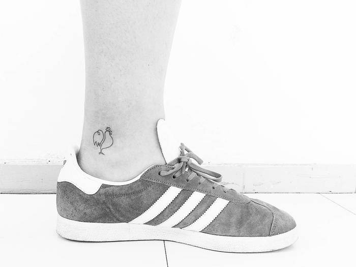 Minimalist Rooster Tattoo by getsytorres