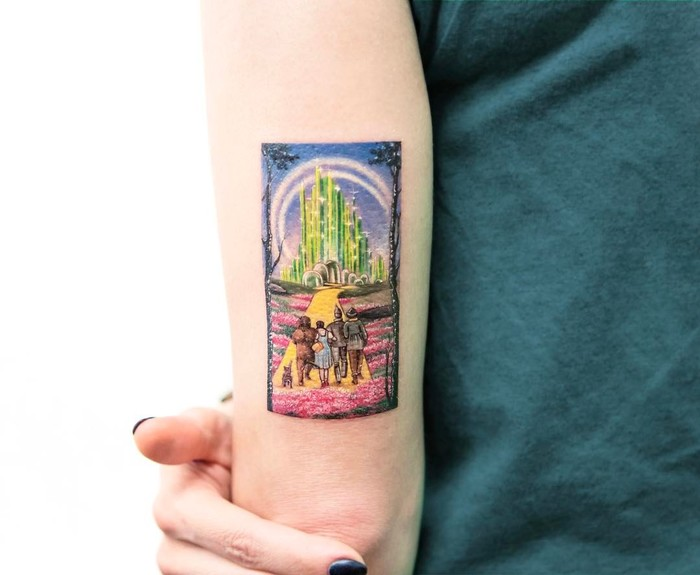 The Wizard of Oz Tattoo by evakrbdk