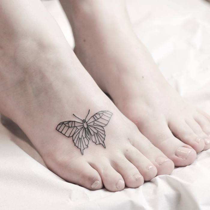 Geometric Butterfly Tattoo by rachainsworth