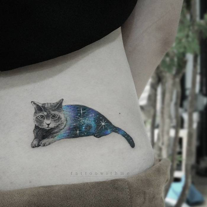 Cosmic Cat Tattoo by tattoowithme