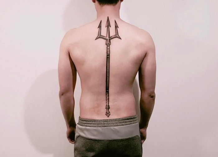 Trident Tattoo by tattooist_uno