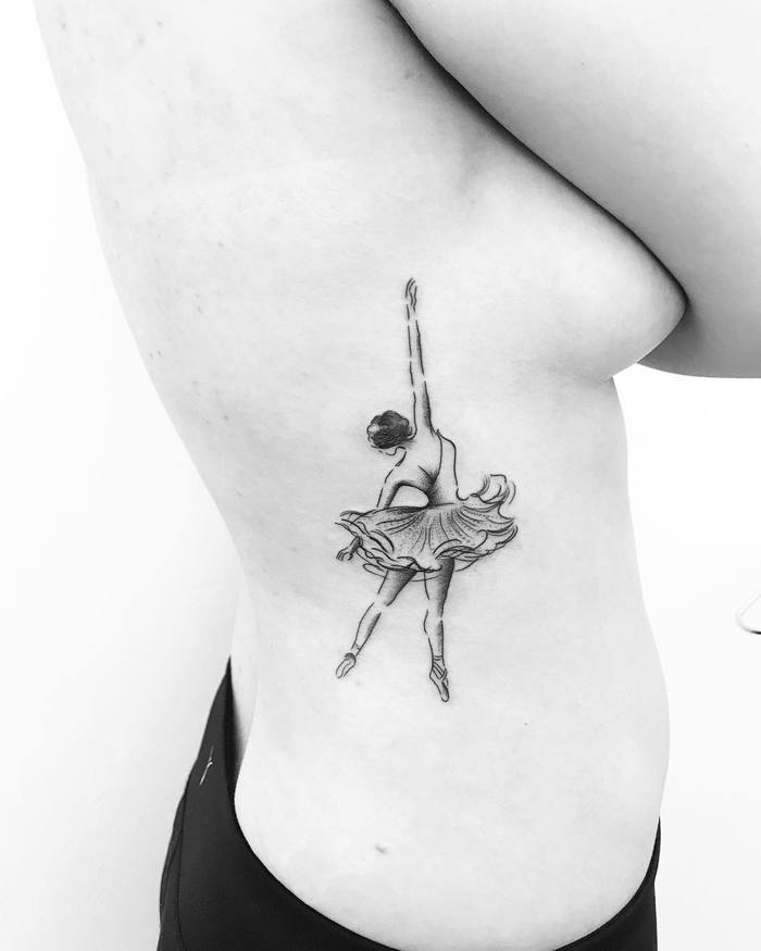 Ballerina Tattoo by nikatattooing