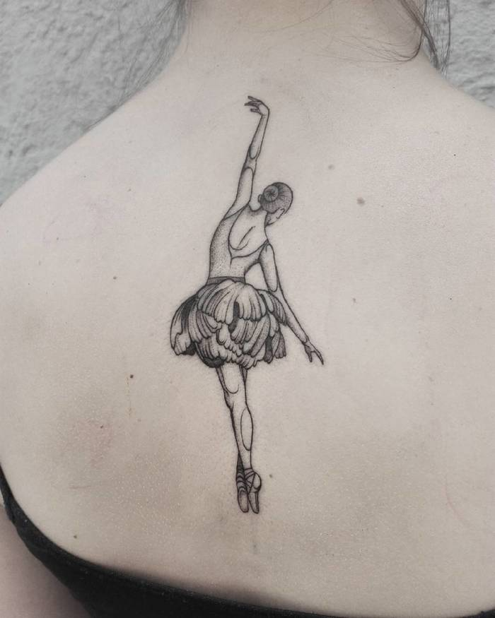 Ballerina Tattoo by tattoos.by.sztrk