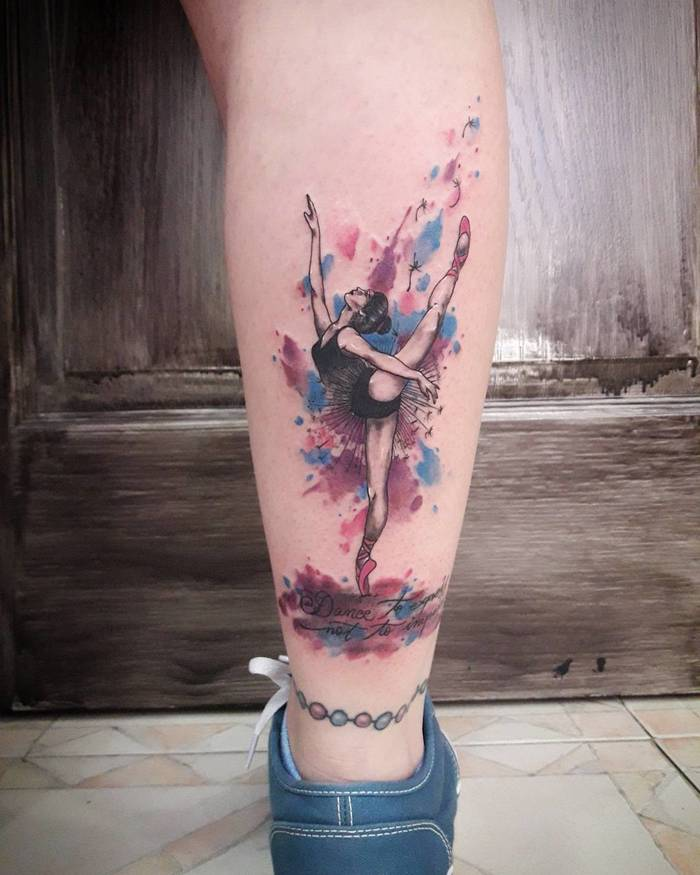 Ballerina Tattoo by nort_tattoo