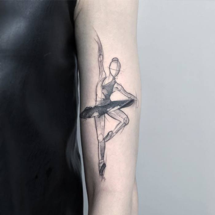 Ballerina Tattoo by rzychu