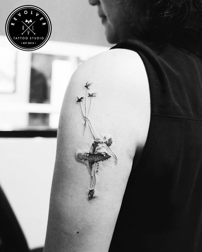 Ballerina Tattoo by revolver_id