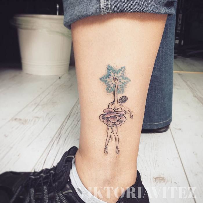 Ballerina Tattoo by viktoria.vitez
