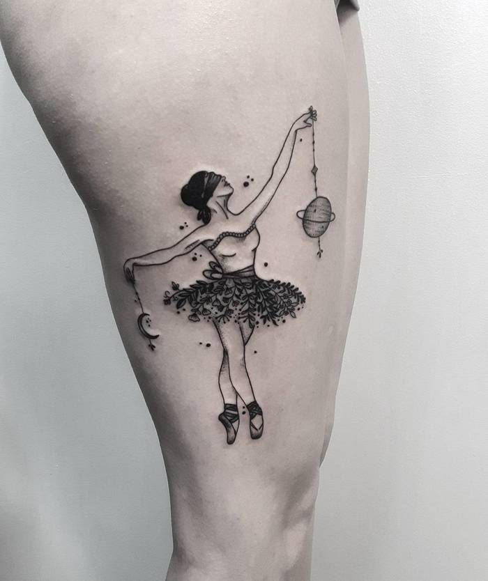 Ballerina Tattoo by thunichtgut