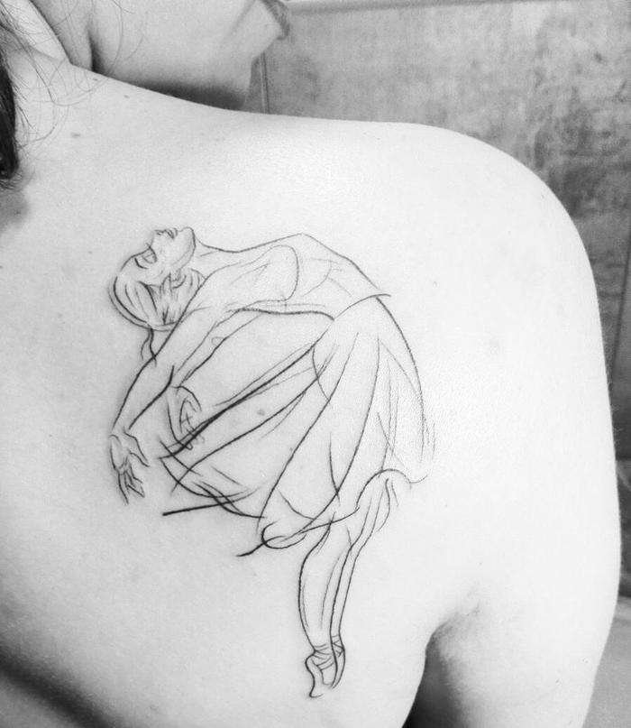 Ballerina Tattoo by natashasmoura