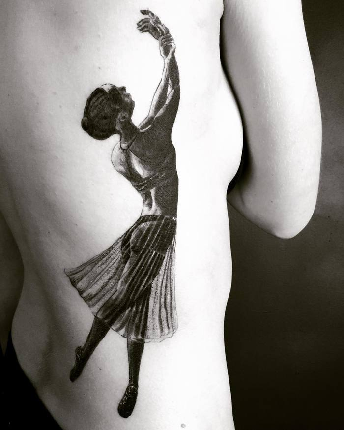 Ballerina Tattoo by bartosz.suszko