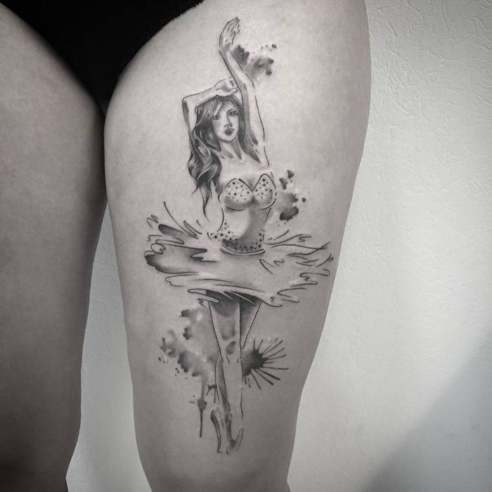 Ballerina Tattoo by les_petits_points_de_fanny