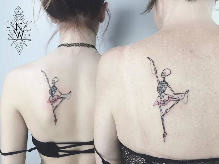 Ballerina Tattoo by nothingwildtattoo