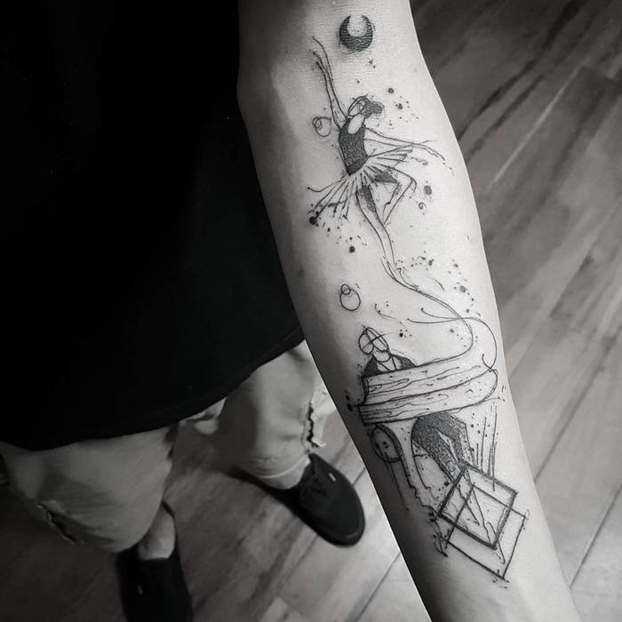 Ballerina Tattoo by bernardo_art