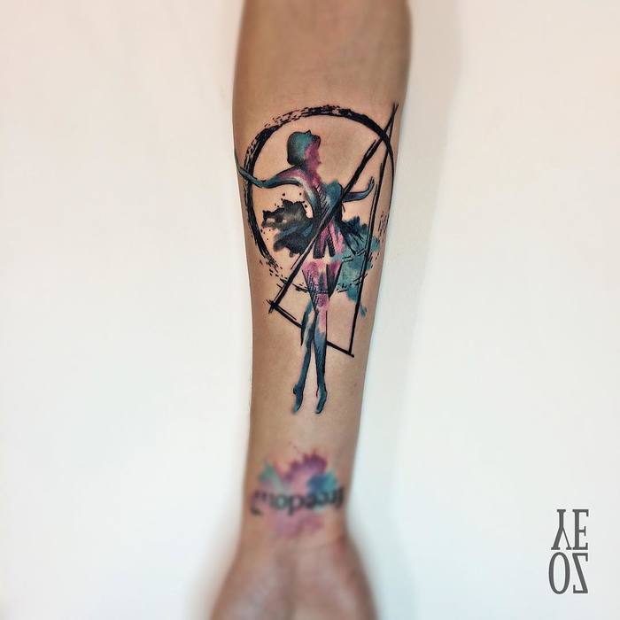 Ballerina Tattoo by yelizozcan_tattooer