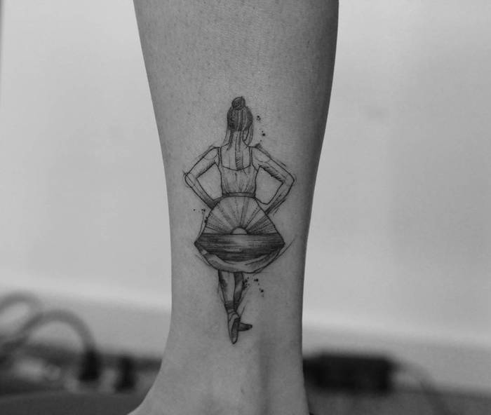 Ballerina Tattoo by ricardodamaiatattoo