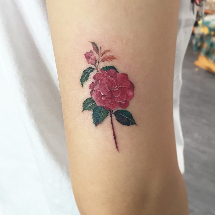 Camellia Tattoo by tattooistmuha